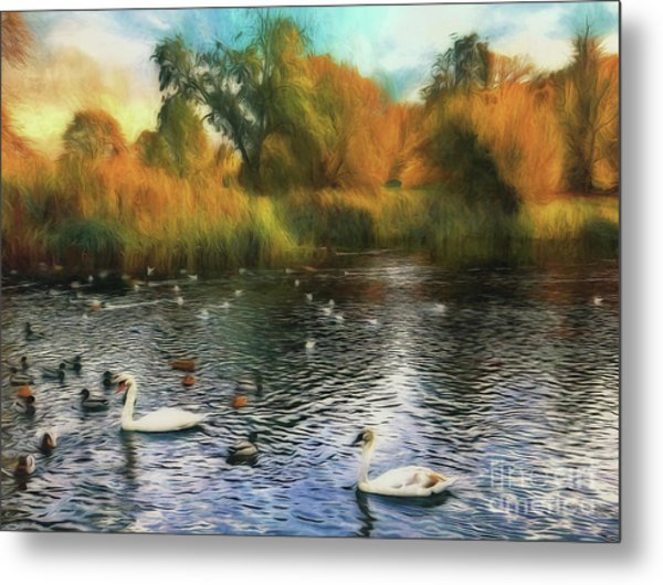 Metal Print featuring the photograph Autumn On The Lake by Leigh Kemp