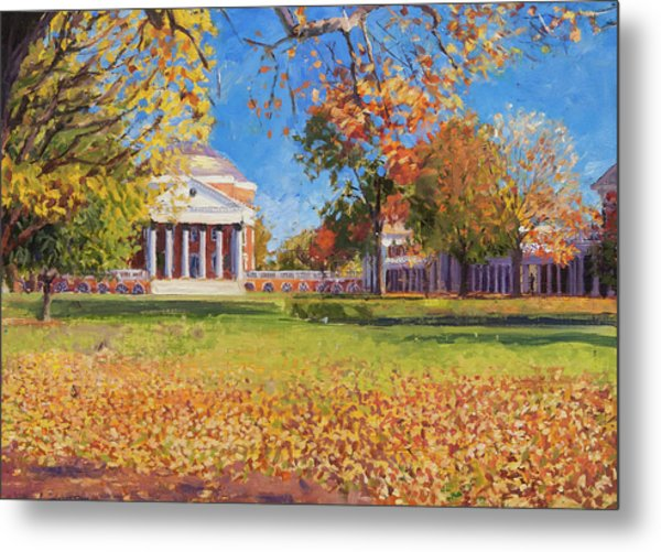 Autumn On The Lawn Metal Print