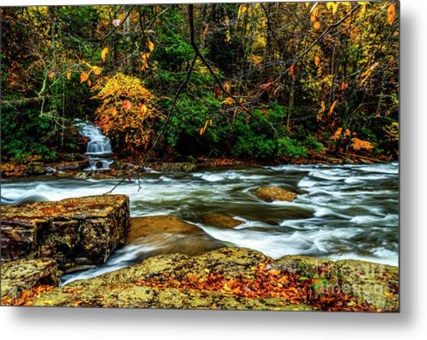 Autumn Rain Back Fork Of Elk River Metal Print