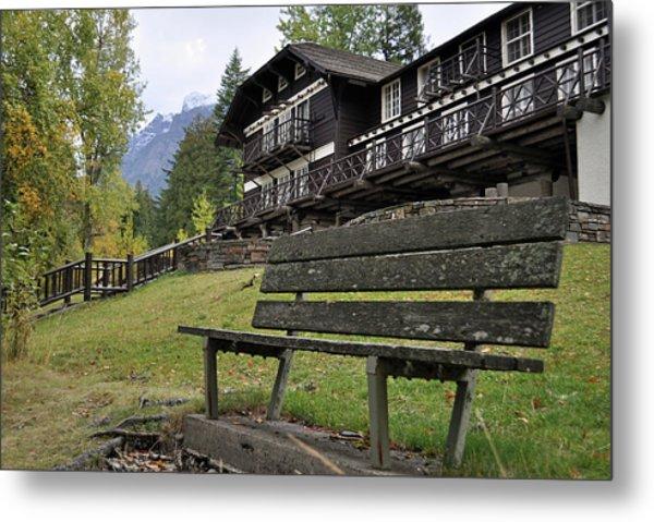 Autumn Silence At Lake Mcdonald Lodge In Glacier National Park Metal Print