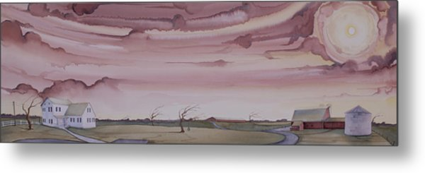 Autumn Skies On The Kirby Farm Metal Print