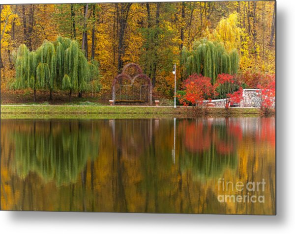Autumn Tints Of Nature,park In Autumn Metal Print by Photosite