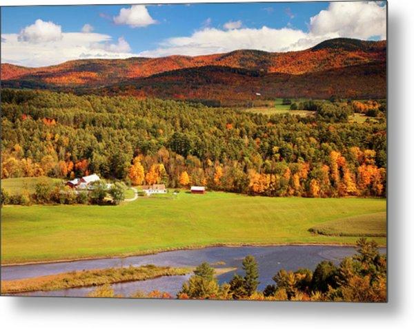Autumn View Overlooking Connecticut Metal Print by Danita Delimont