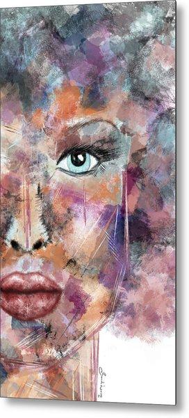 Autumn - Woman Abstract Art Metal Print