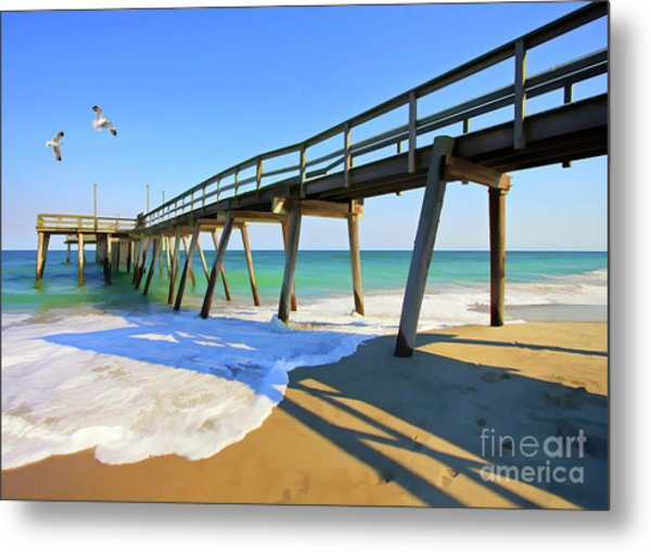 Avalon Pier Metal Print