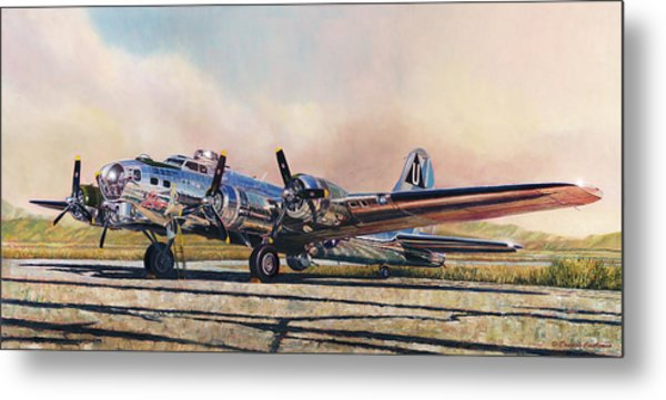 B-17g Sentimental Journey Metal Print