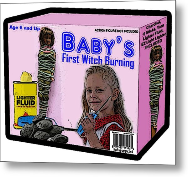 Baby's First Witch Hunt Metal Print