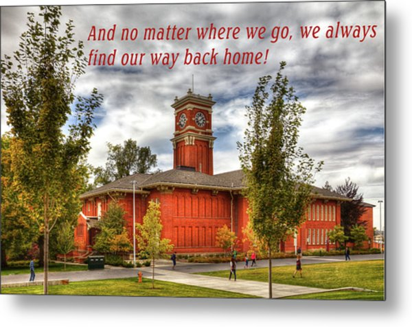 Metal Print featuring the photograph Back Home by David Patterson
