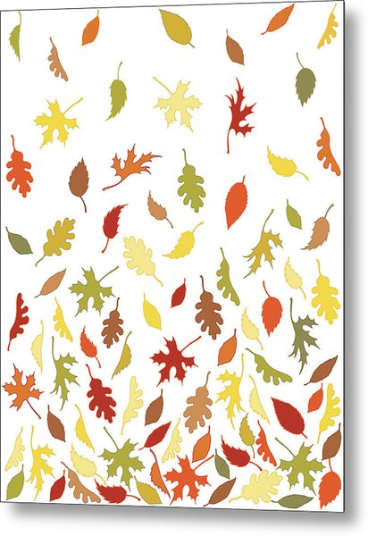 Background Pattern Of Falling Autumn Metal Print by Photos.com