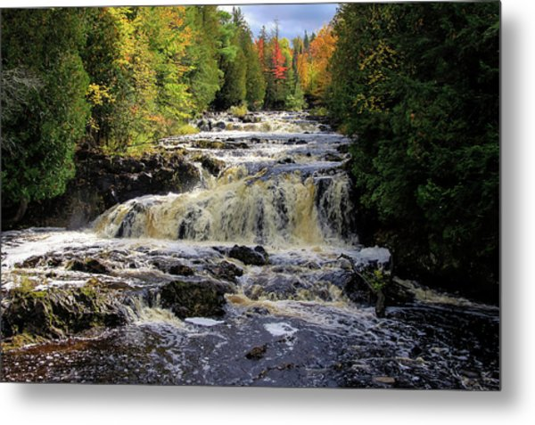 Bad River Cascade Metal Print