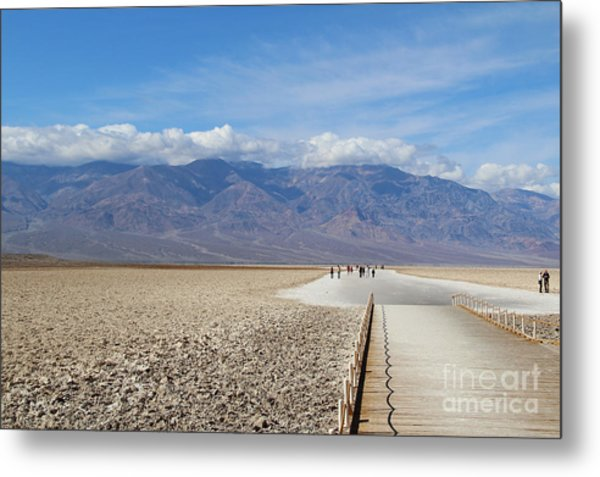 Badwater In Death Valley National Park Metal Print