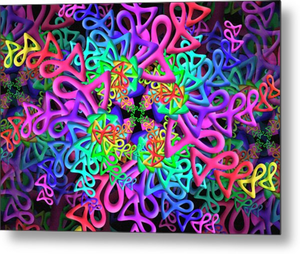 Bagel Remix Metal Print