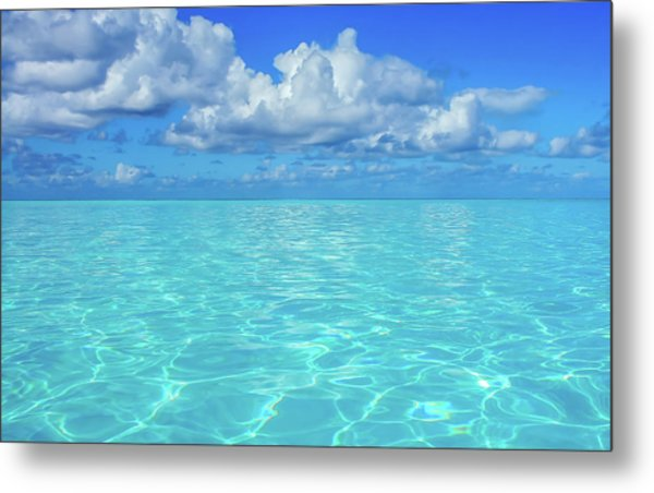 Metal Print featuring the photograph Bahama Blues, Half Moon Cay by Dawn Richards