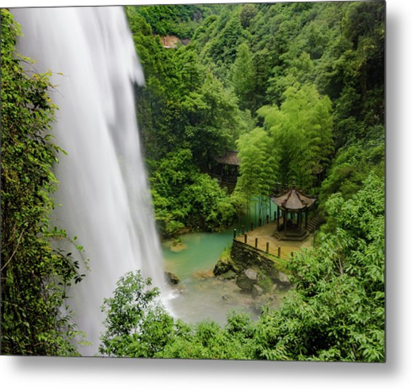 Metal Print featuring the photograph Baiyun Waterfall by William Dickman