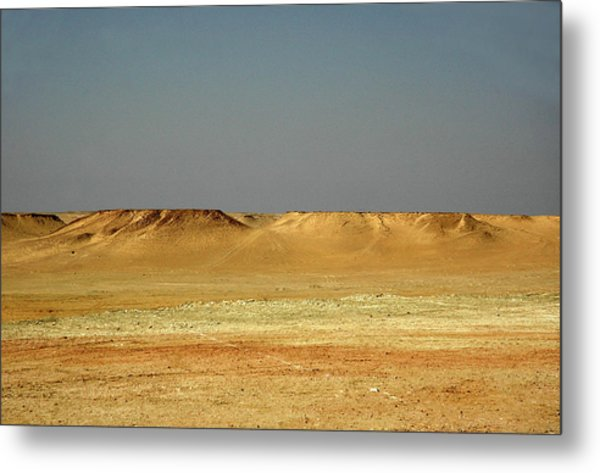 Metal Print featuring the photograph Baked Sahara Desert by Mark Duehmig