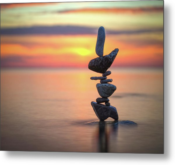 Balancing Art #6 Metal Print
