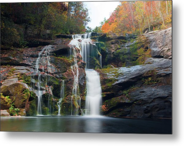 Bald River Falls Basin Metal Print