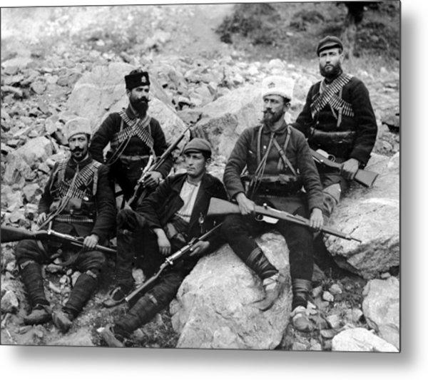 Balkan Soldiers Metal Print by Topical Press Agency