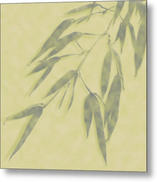 Bamboo Leaves 0580b Metal Print