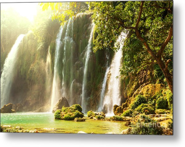Ban Gioc - Detian Waterfall In  Vietnam Metal Print