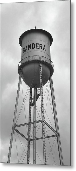 Bandera Water Tower In Texas Metal Print