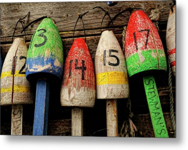 Bar Harbor Bouys Metal Print