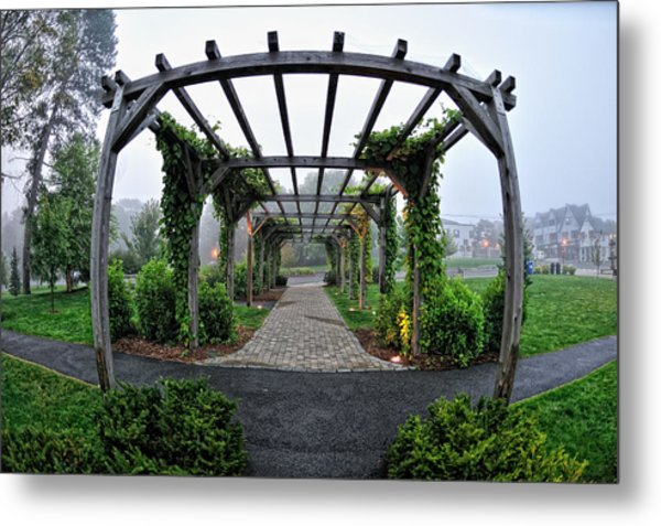 Bar Harbor Pergola Metal Print