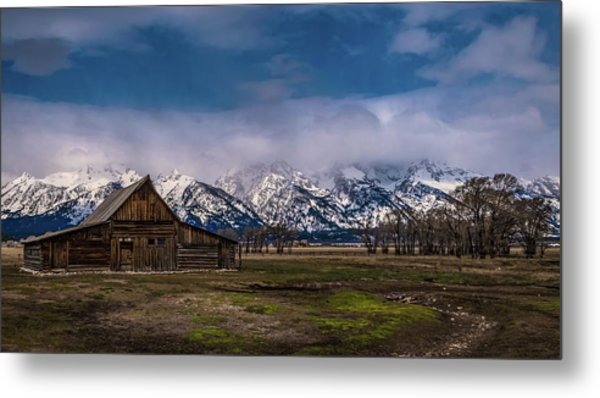 Barn At Mormon Row Metal Print