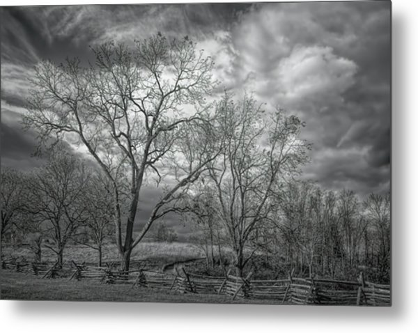 Metal Print featuring the photograph Barren Fields by John M Bailey