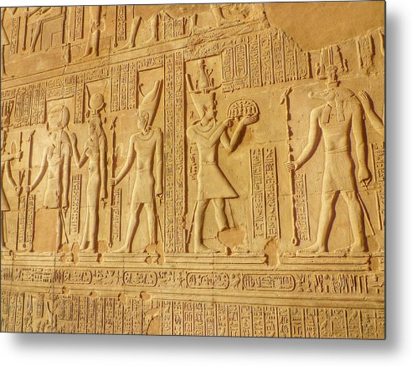 Bas Relief Figures And Hieroglyphics On Metal Print by Fred Bahurlet / Eyeem