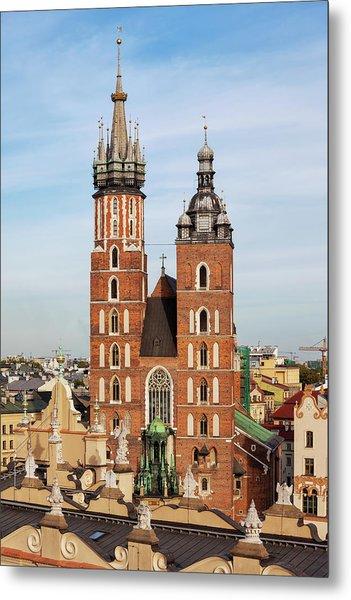 Basilica Of Saint Mary In Krakow Metal Print