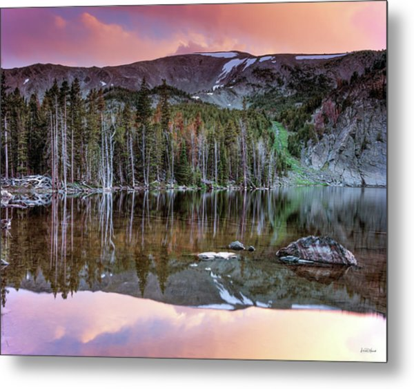 Basin Lake Sunset Metal Print by Leland D Howard
