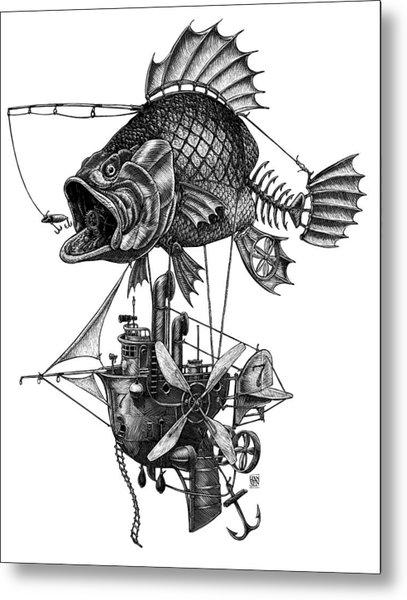 Bass Airship Metal Print