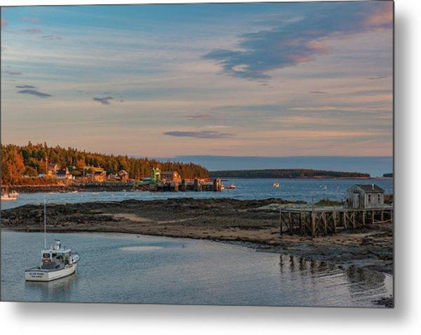 Metal Print featuring the photograph Bass Harbor Sunset by Rick Hartigan