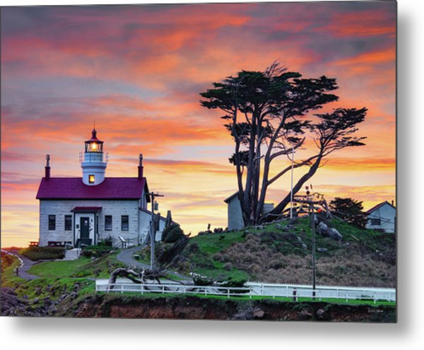 Battery Point Sunset Metal Print