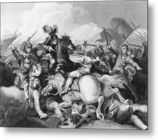 Battle Of Bosworth Field Metal Print by Hulton Archive