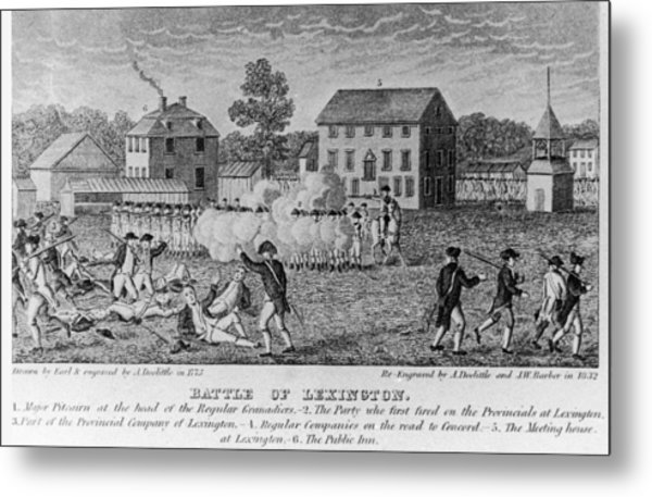 Battle Of Lexington Metal Print by Fotosearch