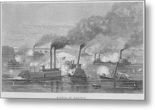 Battle Of Memphis Metal Print by Kean Collection
