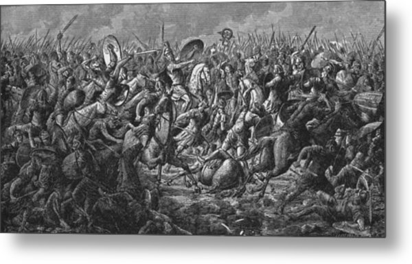 Battle Of Pharsalus Metal Print by Kean Collection