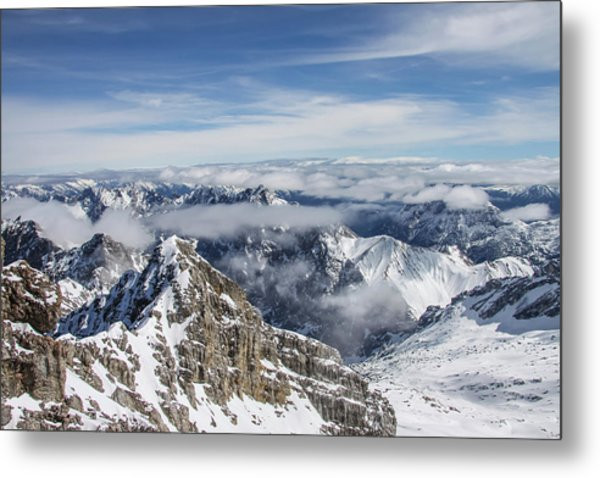 Metal Print featuring the photograph Bavarian Alps, Zugspitze by Dawn Richards