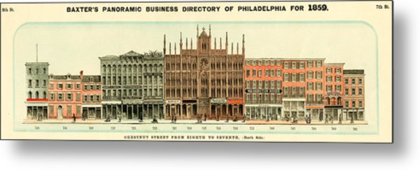 Baxter's Panoramic Business Directory Metal Print