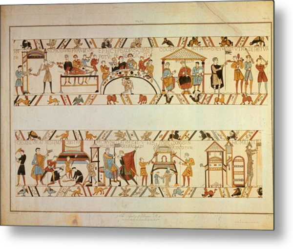 Bayeux Tapestry Metal Print by Hulton Archive