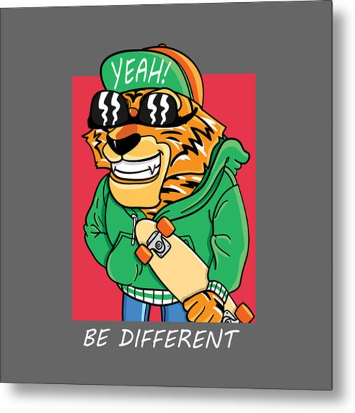 Be Different - Baby Room Nursery Art Poster Print Metal Print