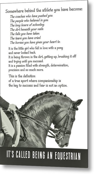Be Equestrian Quote Metal Print