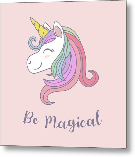 Be Magical - Baby Room Nursery Art Poster Print Metal Print