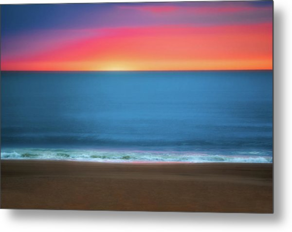 Beach At Sunrise Metal Print