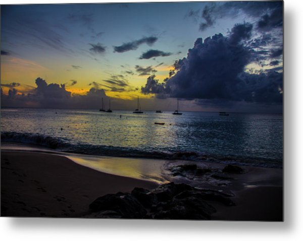Beach At Sunset 3 Metal Print