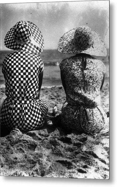 Beach Back View Metal Print