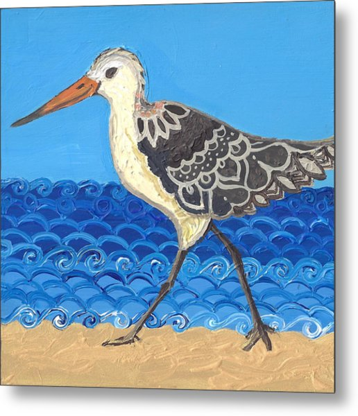 Beach Bird 2 Metal Print
