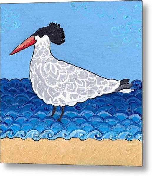 Beach Bird 3 Metal Print